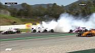 Le crash du départ du Grand Prix d'Espagne 2018