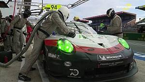 24 Heures du Mans 2018 - Arrêt au stand de la Porsche #93