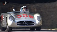 Fangio's Mercedes 300SLR driven by Giacomo Agostini at Goodwood